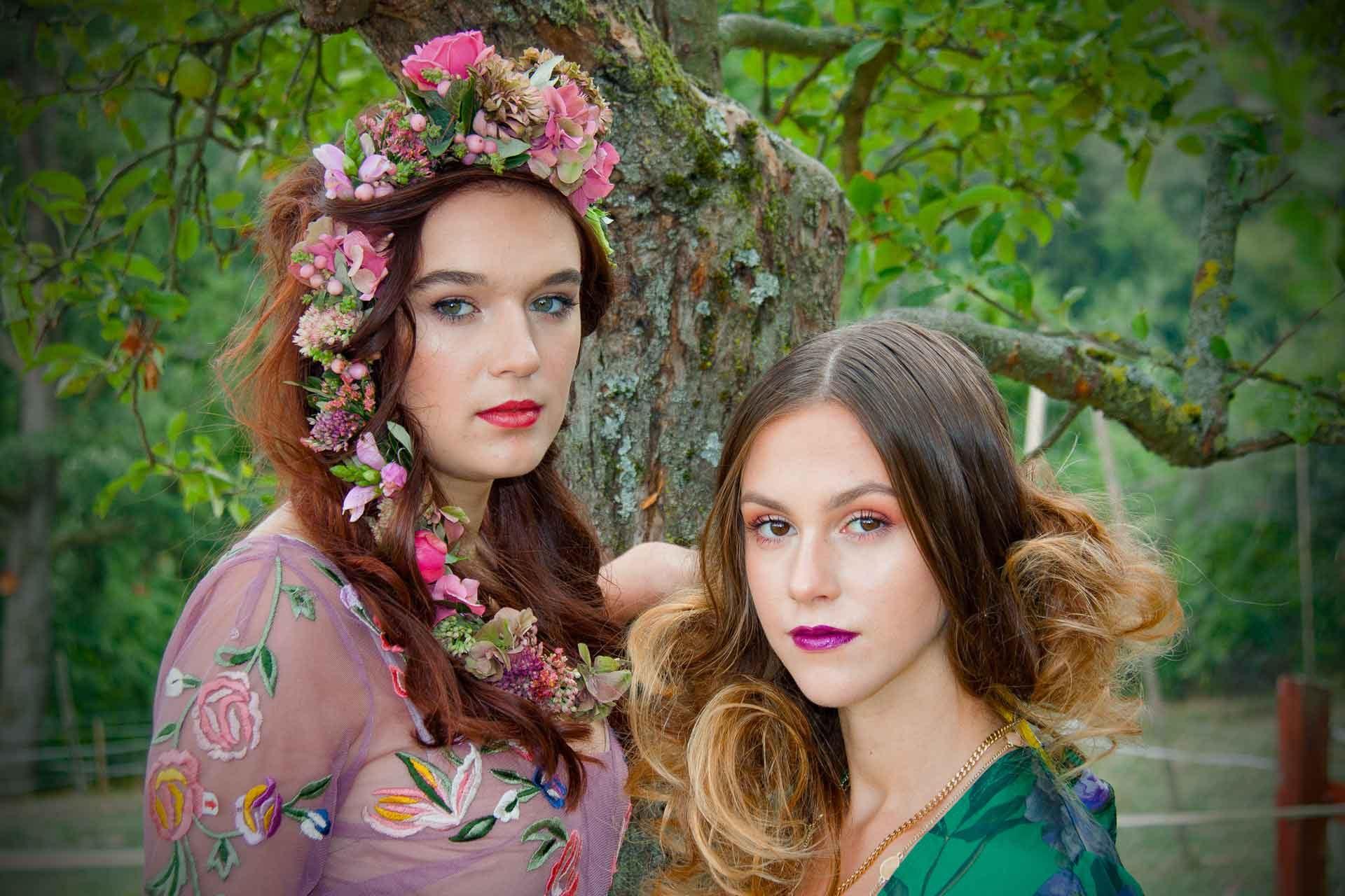 Casa Mia Haarkränze für Modeshooting