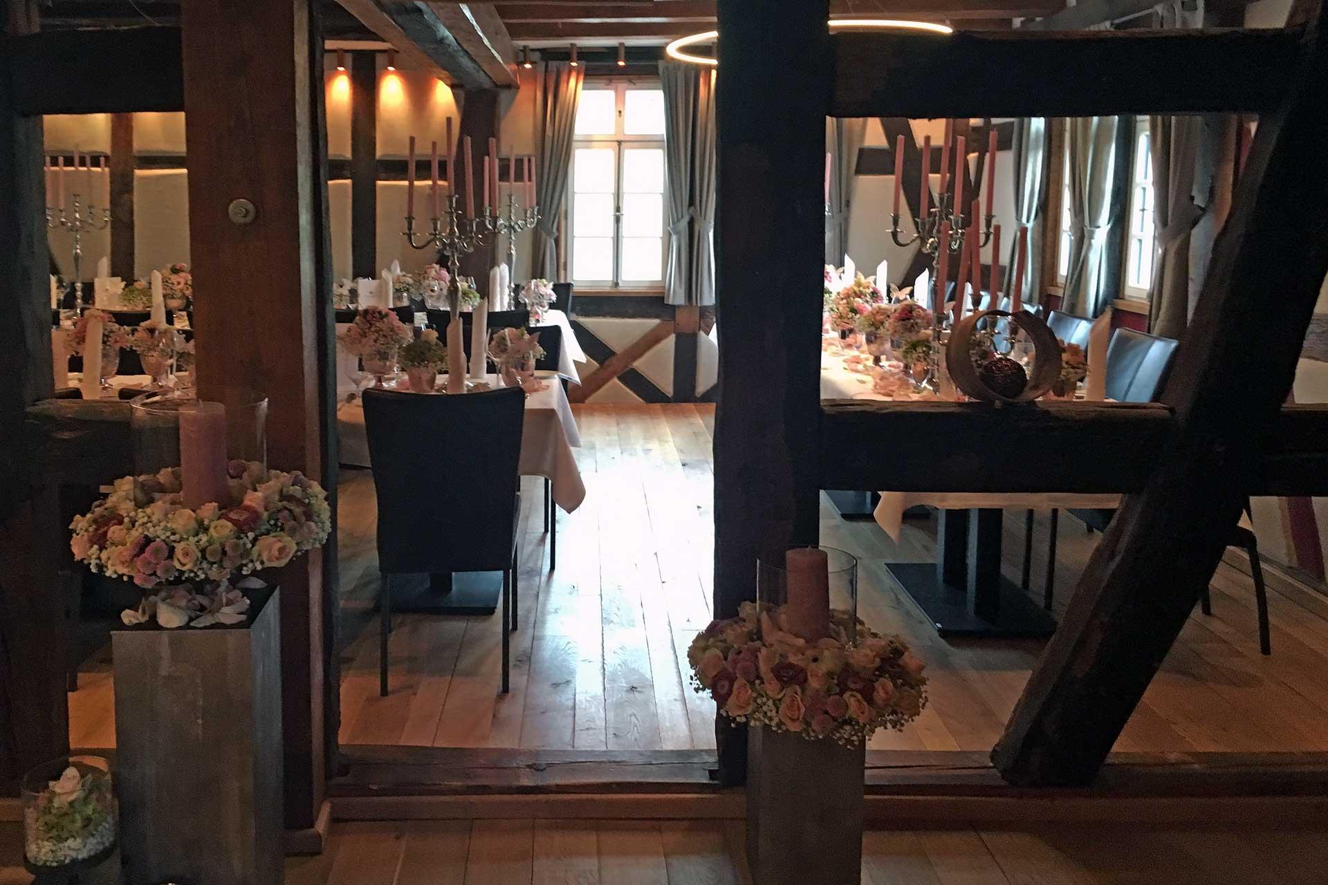 Casa Mia Tischdekoration im Lammershof